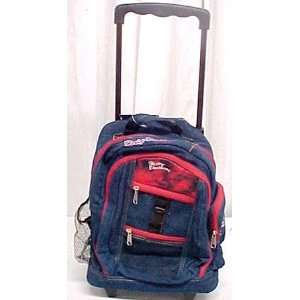 Kids Harley Davidson Denim Wheeled Backpack Book Bag  Toys & Games