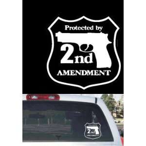 2nd Amendment Security Car or Truck Rear Window Decal