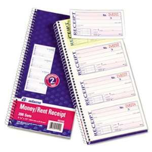 NEW Two Part Rent Receipt Book, 2 3/4 x 5 1/4, Two Part