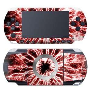 (Red) Design Decorative Protector Skin Decal Sticker for Sony PSP