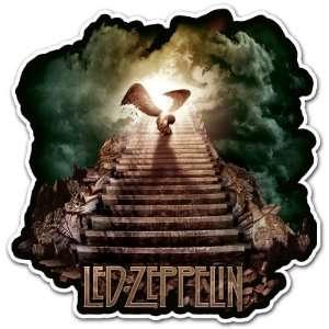 Led Zeppelin Angel Rock Band Car Bumper Sticker Decal 4.5