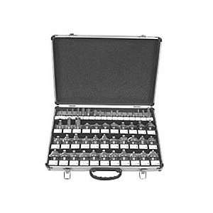 1/2 Carbide Router Bit Set   Aluminum Case   66 Pc Home