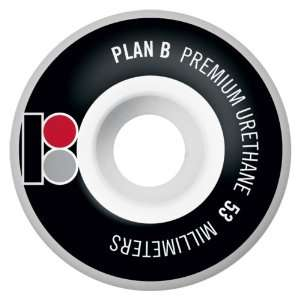 Plan B Heritage Series 53MM Skateboard Wheels (Set of 4