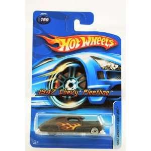 Hot Wheels   2006   1947 Chevy Fleetline   Black w/ Flames