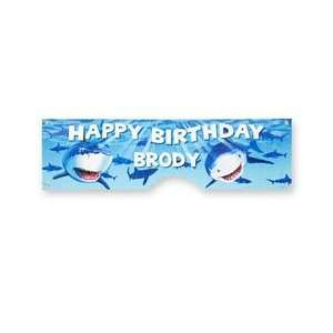 personalized shark birthday banner Toys & Games