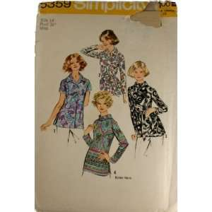 Simplicity 5359 Pattern Misses Set of Blouses Size 14 Bust