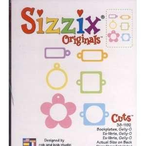Sizzix Originals BOOKPLATES GELLY O Die RED Arts, Crafts