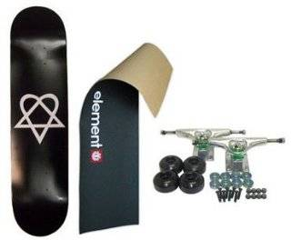 ELEMENT Skateboard LOGO Grip HEARTAGRAM BB COMPLETE BLK