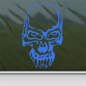 Demon Skull Blue Decal Car Truck Bumper Window Blue