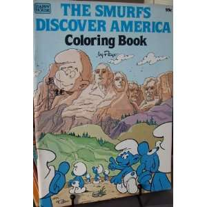 THE SMURFS DISCOVER AMERICA COLORING BOOK Toys & Games