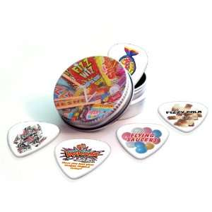 Sweets (Retro) Premium Guitar Picks x 5 With Tin Musical Instruments