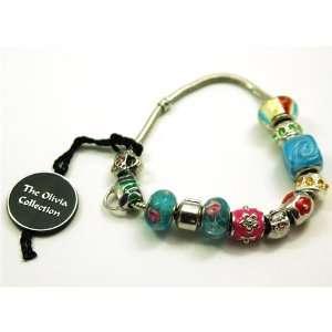 TOC BEADZ Branded Summer Crystal Handbag Bead Bracelet Jewelry