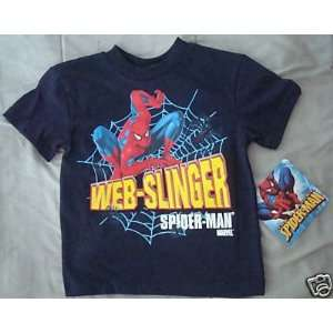 NWT Spider Man boys navy blue t shirt Sz L Large 7