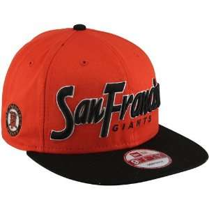 New Era San Francisco Giants Snap It Back Snapback Hat   Orange/Black