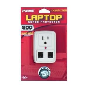 900 Joule Lap Top One Outlet Surge Protector, White