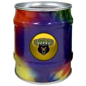 Baylor University Bears BU NCAA Tie Dye Tin Bank