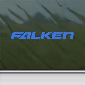 Falken Tires Blue Decal Car Truck Bumper Window Blue