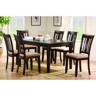 Cappuccino Finish Solid Wood Dining able Chairs Se Home & Kichen