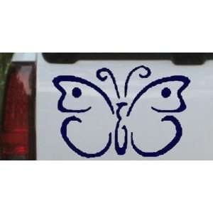 12.2in    Butterfly 3 Butterflies Car Window Wall Laptop Decal Sticker
