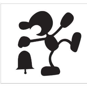 Mr Game and Watch Sticker Decal Peel and Stick Black