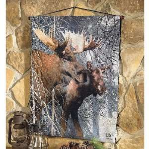 Moose Forest King Tapestry Wall Hanging