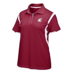 Washington State Cougars Womens Polo Dress Shirt