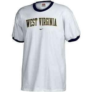 Nike West Virginia Mountaineers White Classic Ringer T shirt