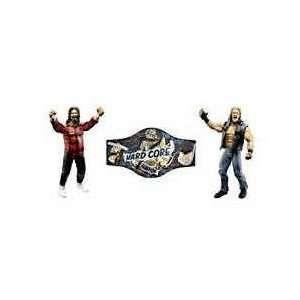 WWE Harcore Championship Belt with Edge & Mick Foley