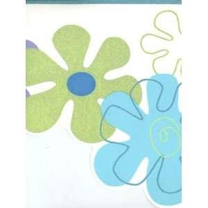 Wallpaper York York Kids 4 FLOWER POWER BORDER YK0146B