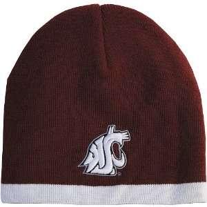 Zephyr Washington State Cougars Nordic Cardinal/White Knit Hat