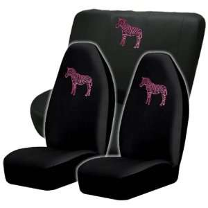 Unique Pink Zebra High Back Seat Covers & Bench Cover Automotive