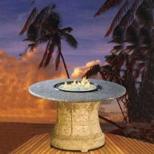 Outdoor PS DH FP PEB Palm Dining Height Table Fire