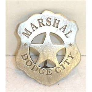 Marshal Dodge City Obsolete Old West Police Badge Star