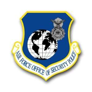 US Air Force Security Police Decal Sticker 3.8