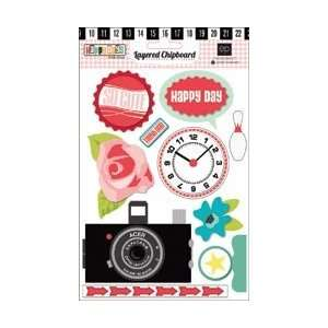 Echo Park Paper Happy Days Layered Chipboard Stickers; 3