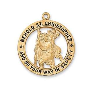 St. Saint Sterling Silver St Saint Medal St. Saint Christopher J2514