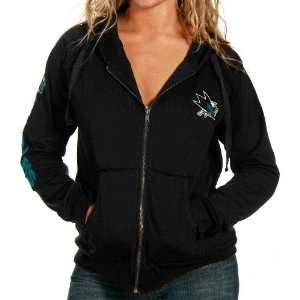San Jose Sharks Ladies Black Legion Full Zip Hoody