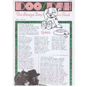 Bonzo Dog Band Fan Club magazine issue 2: The Bonzo Dog