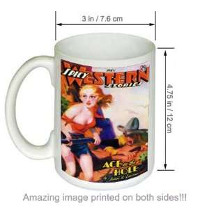 Ace in the Hole Spicy Western Stories Pulp Art COFFEE MUG