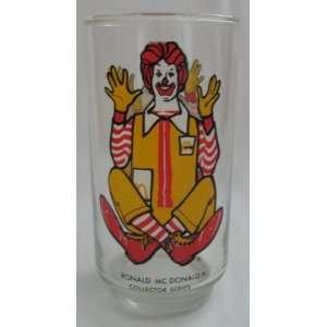 Vintage Ronald McDonald 1977 Collectors Series Glass