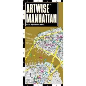 com Artwise Manhattan Museum Map   Laminated Museum Map of Manhattan
