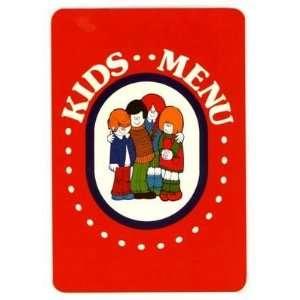 Marcs Big Boy Restaurant Kids Menu Wisconsin 1987