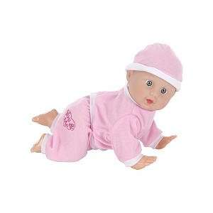 You & Me 10 inch Cuddle and Crawl Baby Doll   Pink  Toys & Games
