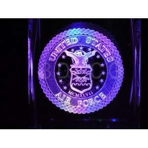 United States Air Force O 1 3D Laser Etched Crystal Everything Else