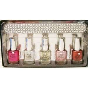 Four East Cosmetics Nail Polish Set   Pink, White, Red