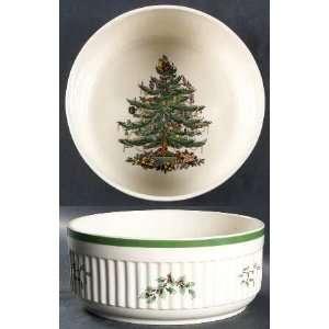 Spode Christmas Tree Green Trim Souffle, Fine China Dinnerware