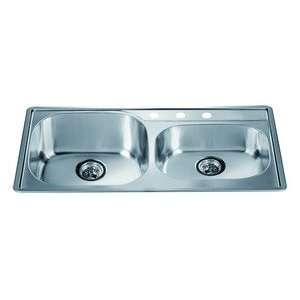 Dawn Top Mount stainless steel sink 304 Type Stainless Steel Satin