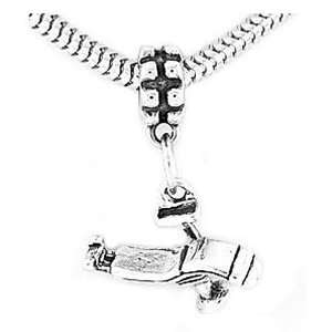 Sterling Silver Dentist Chair Dangle Bead Charm Jewelry