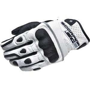 Scorpion SG2 Mens Leather On Road Motorcycle Gloves   White / Large