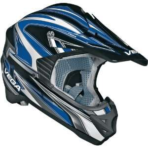 Vega Edge Adult Viper Off Road Motorcycle Helmet   Blue